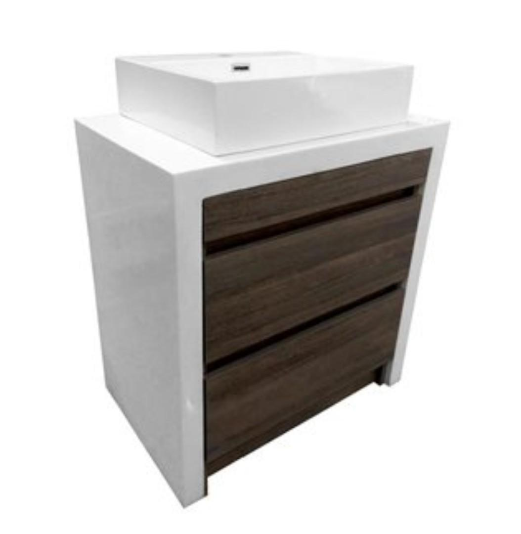 New Bathroom Vanity With Cultured Marble Top