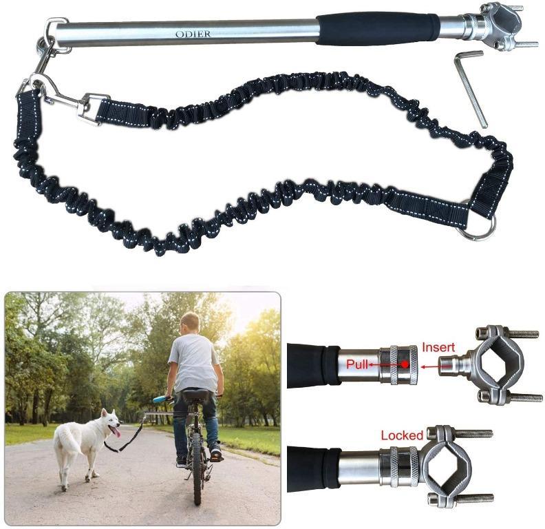 ODIER Hands Free Bike Dog Leash, 500-lbs Pull Strength