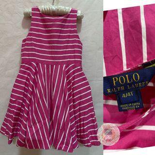 Ralph Lauren Sleeveless Pink Striped Ponte Dress/4T/