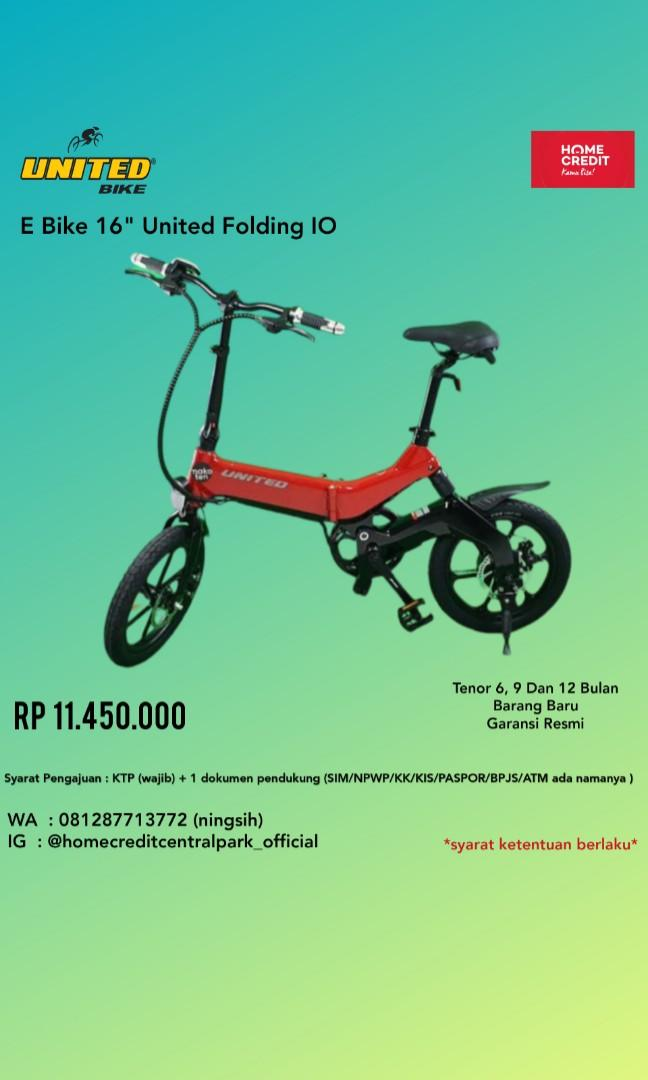 Sepeda E Bike 16 Folding Kredit Tanpa CC By Homecredit