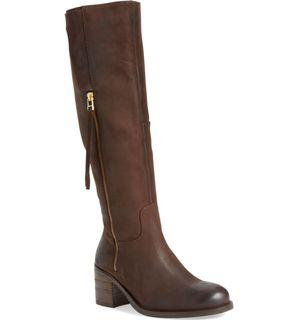 Steve Madden Antsy Brown Leather Riding Boots Size 7