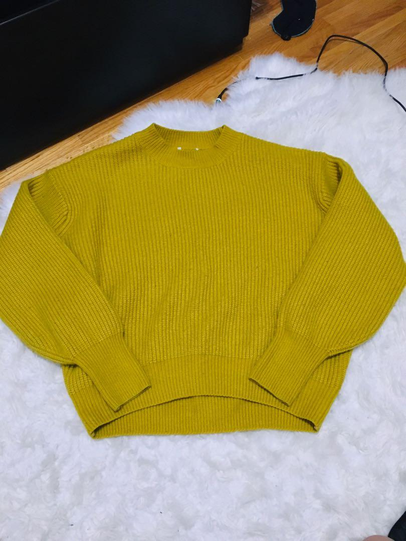 Wool blend large sweater