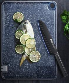 Xiaomi Youpin OOU Multifunctional Antibacterial Antifungal Double-sided Cutting Board Cutting Board Cutting Board Draining Kitchen Complementary Food Cutting Fruit, M size 37cm x 25cm  , 小米有品OOU多功能抗菌防霉双面菜板砧板案板沥水厨房辅食切水果
