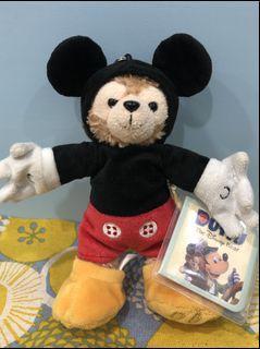 《Yo》迪士尼達菲熊Duffy 變裝米奇 玩偶鑰匙圈