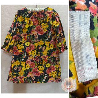 Zara Girls Boho 3/4 Sleeved Dress LN/ Fits 4-5T