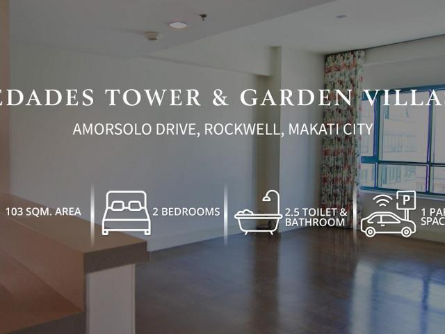 For Sale: 2 BR unit at Edades Rockwell