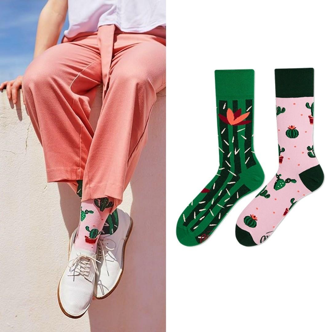 萌萌仙人掌襪子