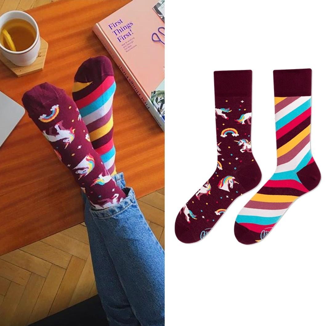 彩虹獨角獸襪子