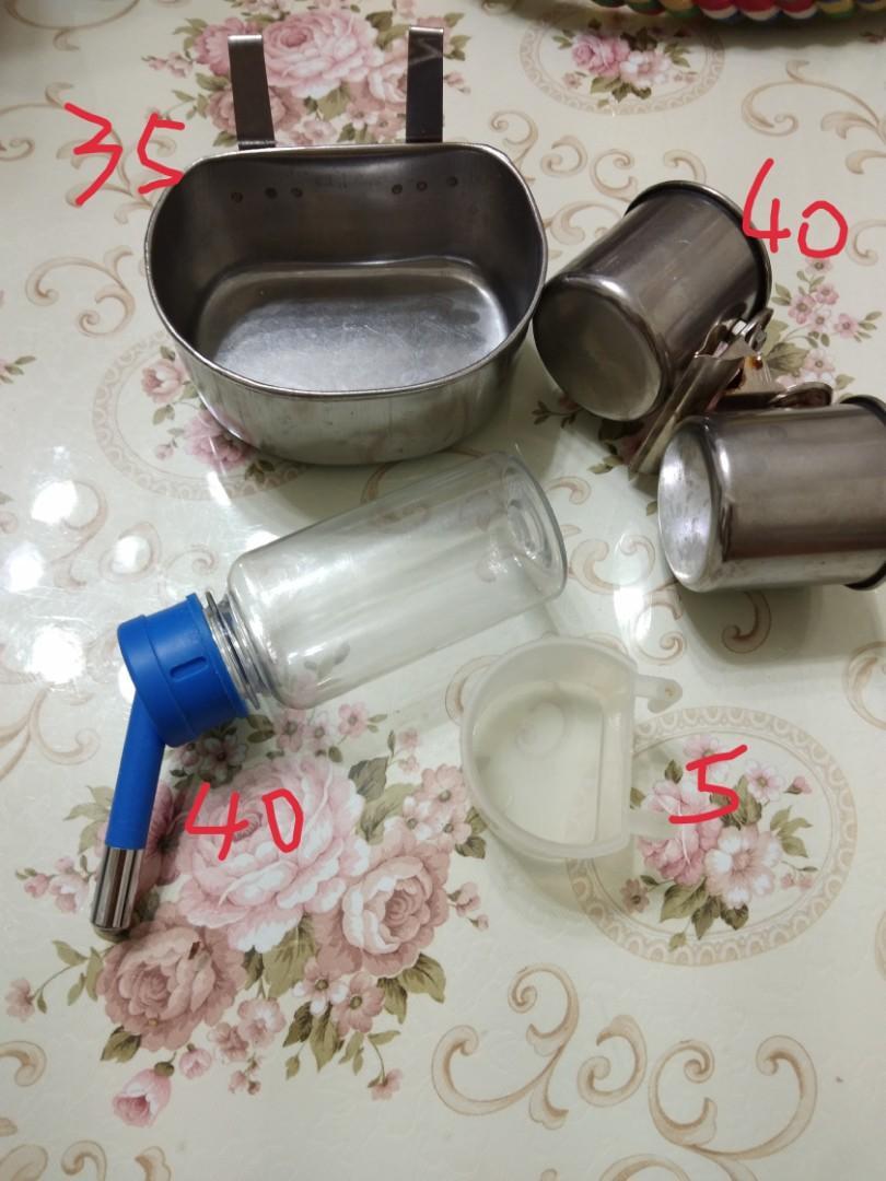 寵物用雙滾珠飲水瓶及食盆