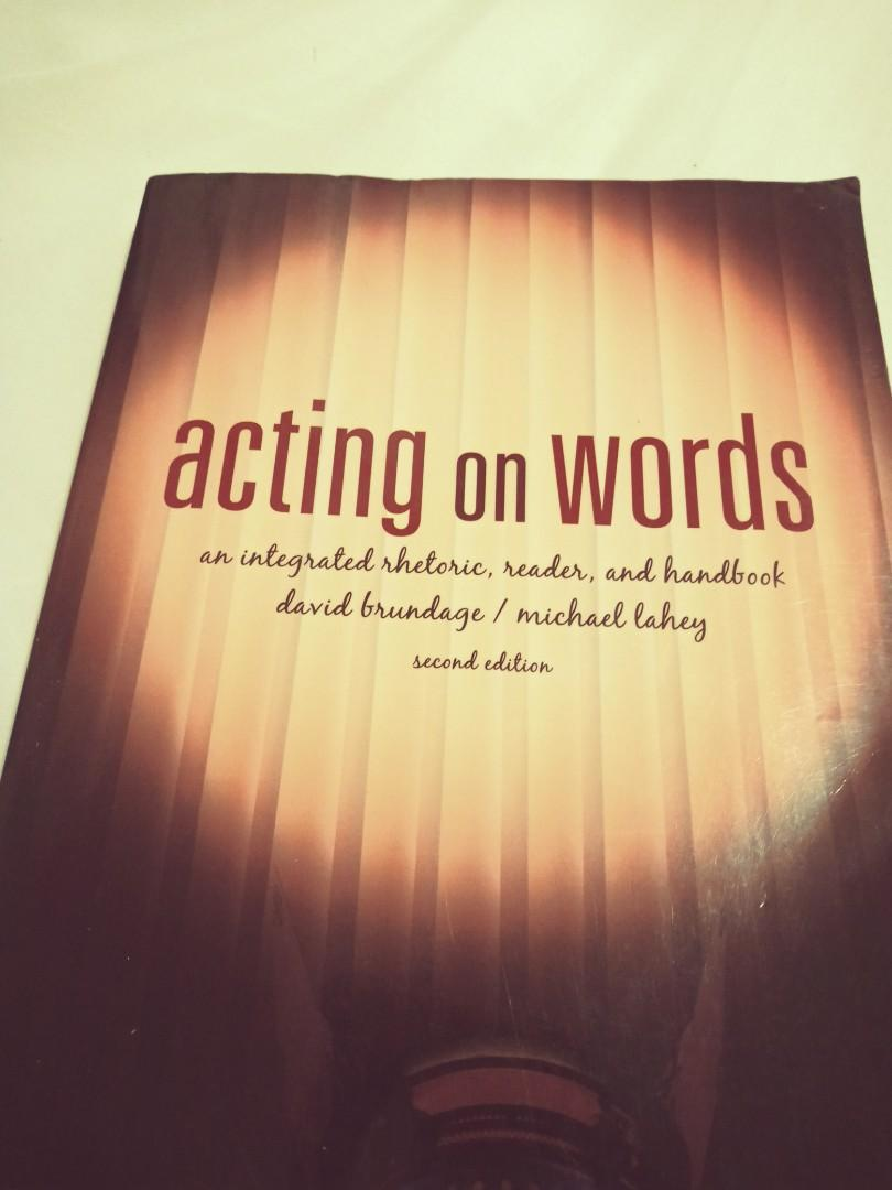 Acting on words second edition
