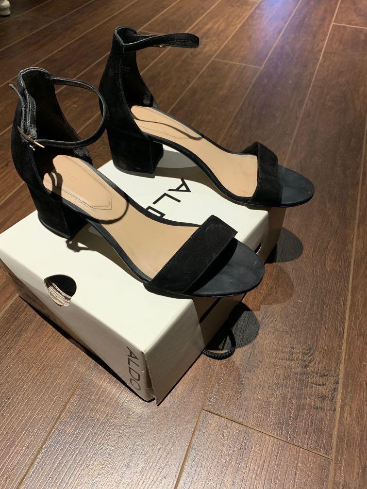 ALDO low suede heeled sandals