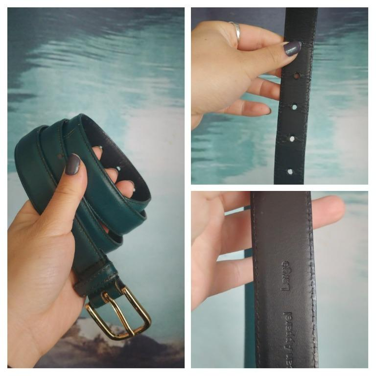 American Apparel Forest Green Leather Belt (Large)