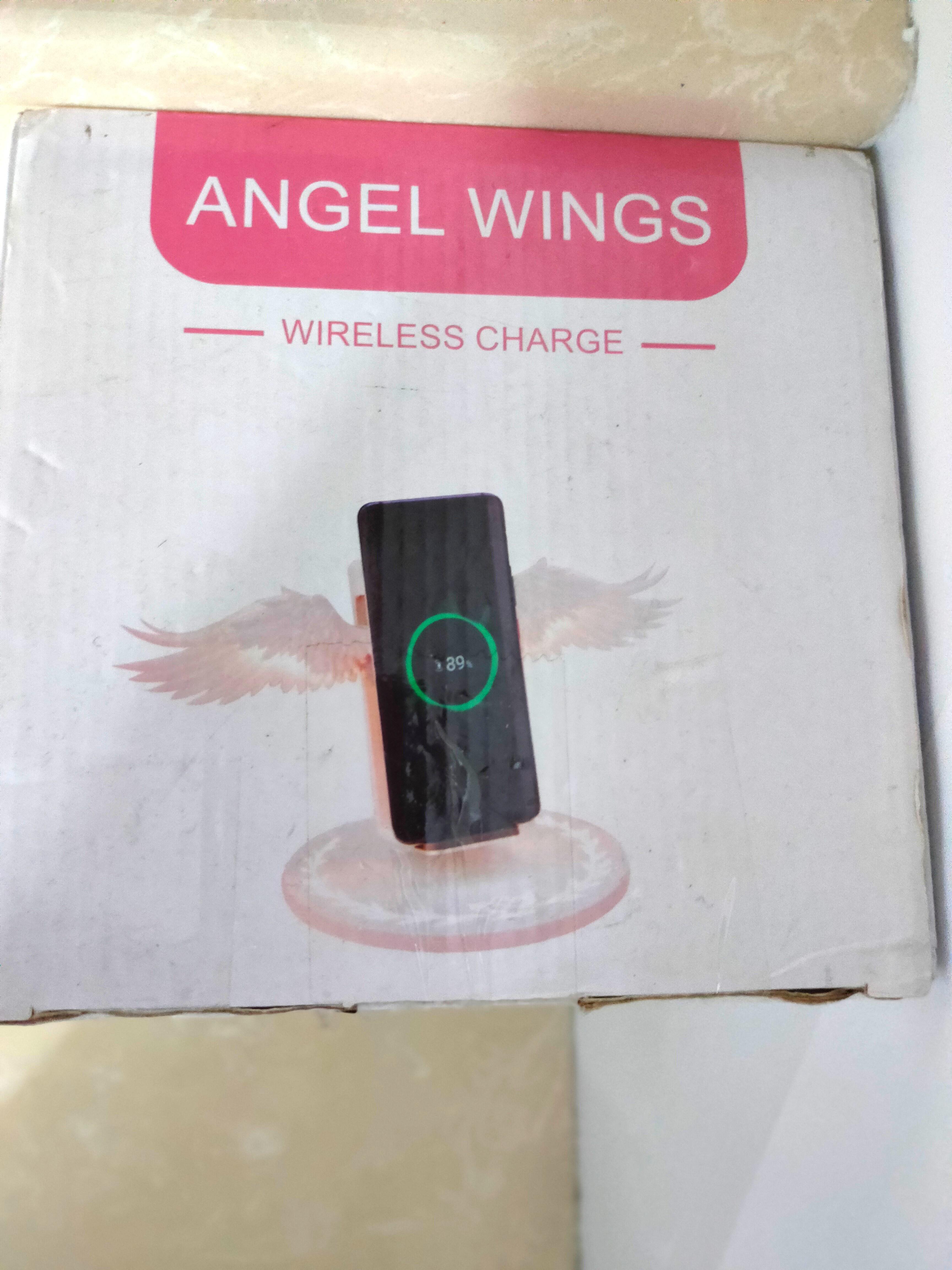 Angel wings 天使之翼 天使翅膀 無線充電座 無線充電器 翅膀開合 發光底座