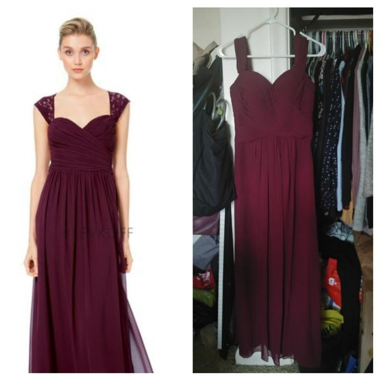Bill Levkoff Bridesmaid Dress (Crimson Red, Size 4/Small)