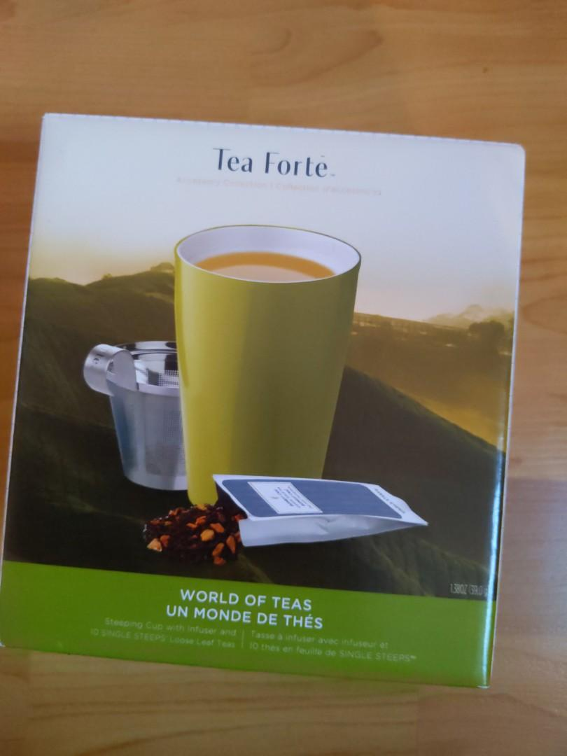 Brand New: Tea Cup, Infuser, and leaf set