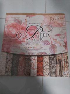 Enogreeting scrapbook paper 12 inch Retro Series Classic Red