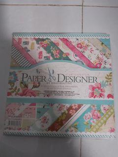 Enogreeting Scrapbook paper 8 inch Flower Series