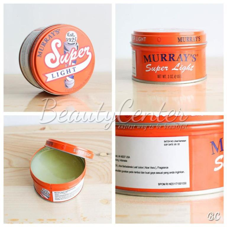 Hair Wax & Pomade Pomade Murray's Super Light Original 100% USA (Tidak Ori Uang Balik)