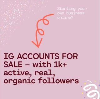 IG Account For Sale (Business or For Collabs)