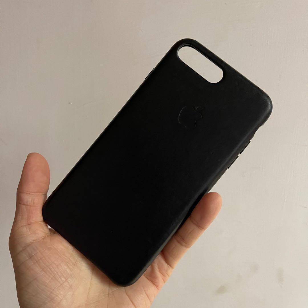 "iPhone 8 Plus 原廠 黑色皮套 手機保護套 5.5"""