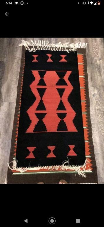 "Kilim/Area Wool Rug (25"" X 50"")"