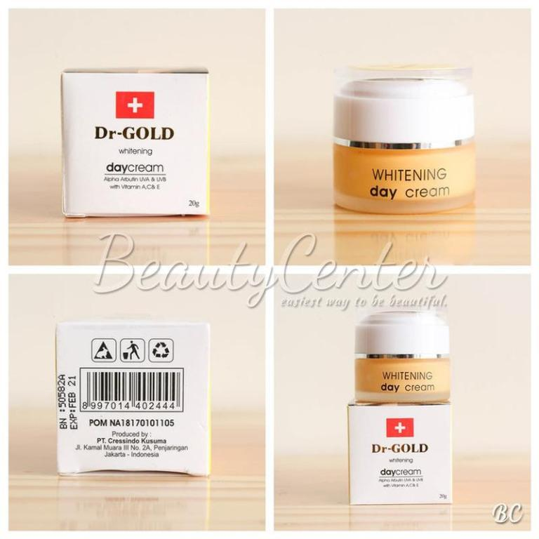 Krim Wajah [DR.GOLD] Dr Gold Whitening Day Cream / Cream Siang / BPOM / 20gr