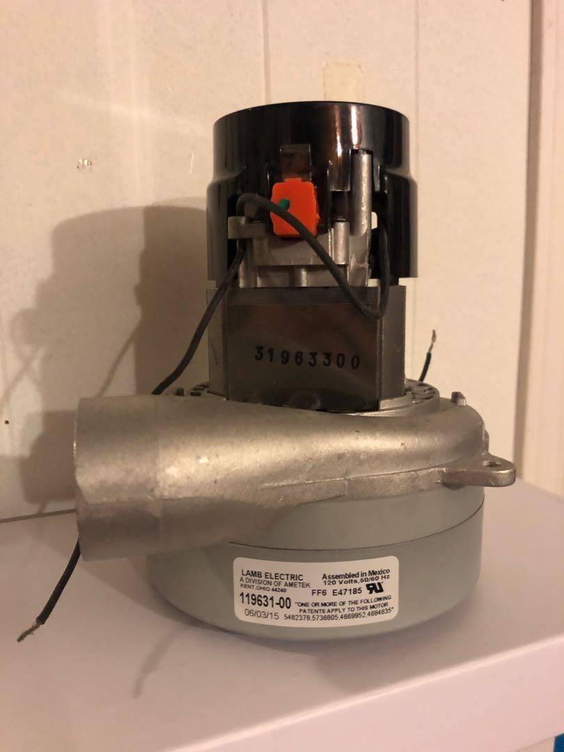 Lamb Ametek 119631-00 2-stage Central Vacuum Motor