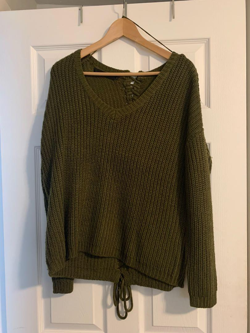 M boutique olive sweater