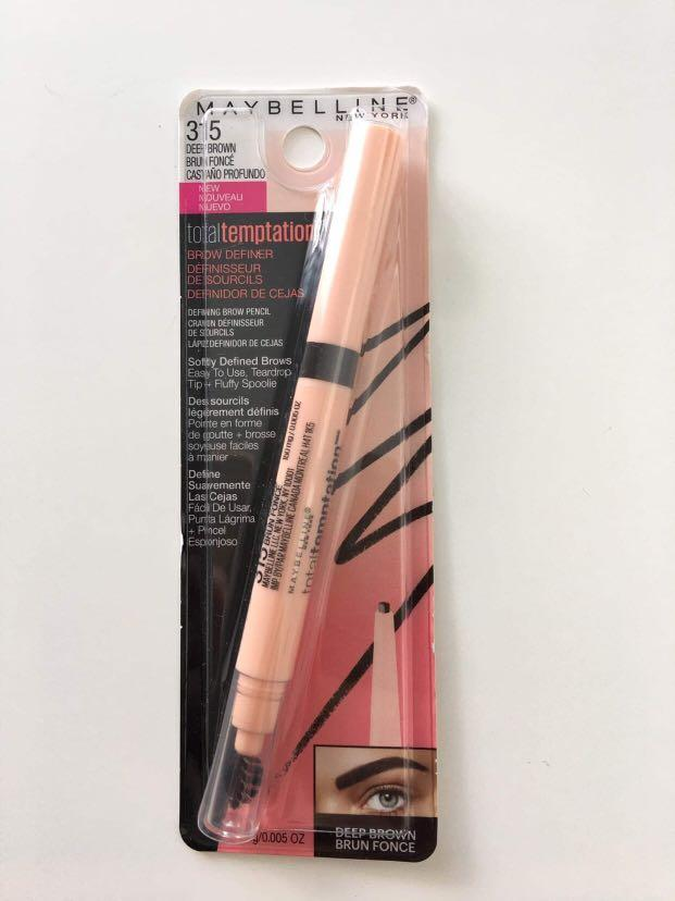 Maybelline New York Total Temptation Brow Definer Pencil #315 Deep Brown 150mg