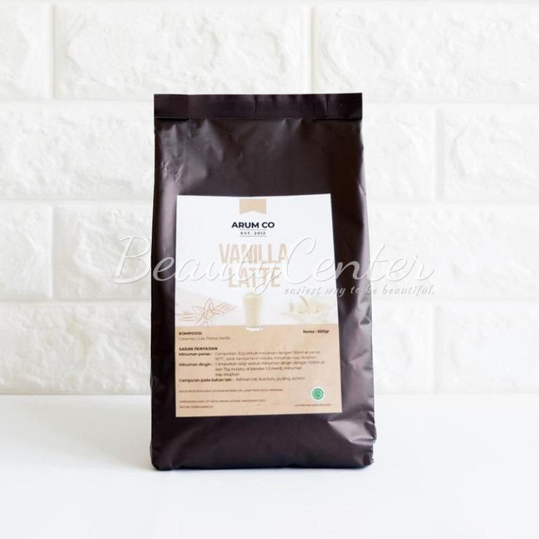 Minuman Bubuk Arum Co Vanilla Latte 500gr / Instant Drink / Bubuk Minuman