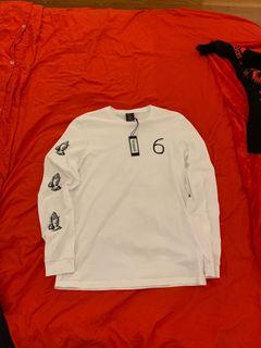 OVO White Ling-sleeve Shirt