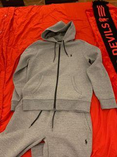 Polo Grey Slim Fit Tracksuit