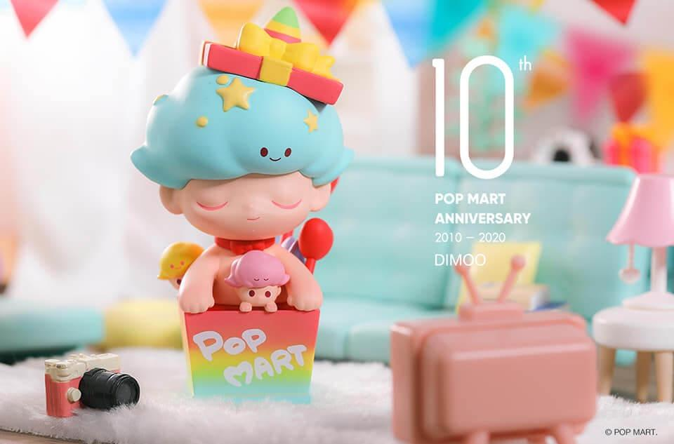 Pop Mart Limited 10th Anniversary - Dimoo, Bunny, Pucky, Molly