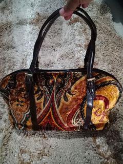 Rare Etro Velvet Pattern Authentic Bag
