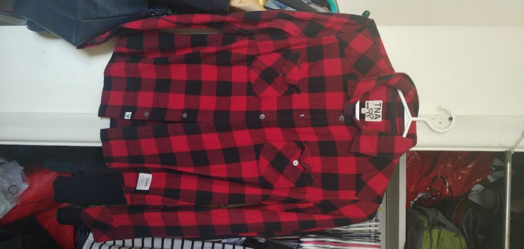 TNA Red Plaid Shirt (Small)