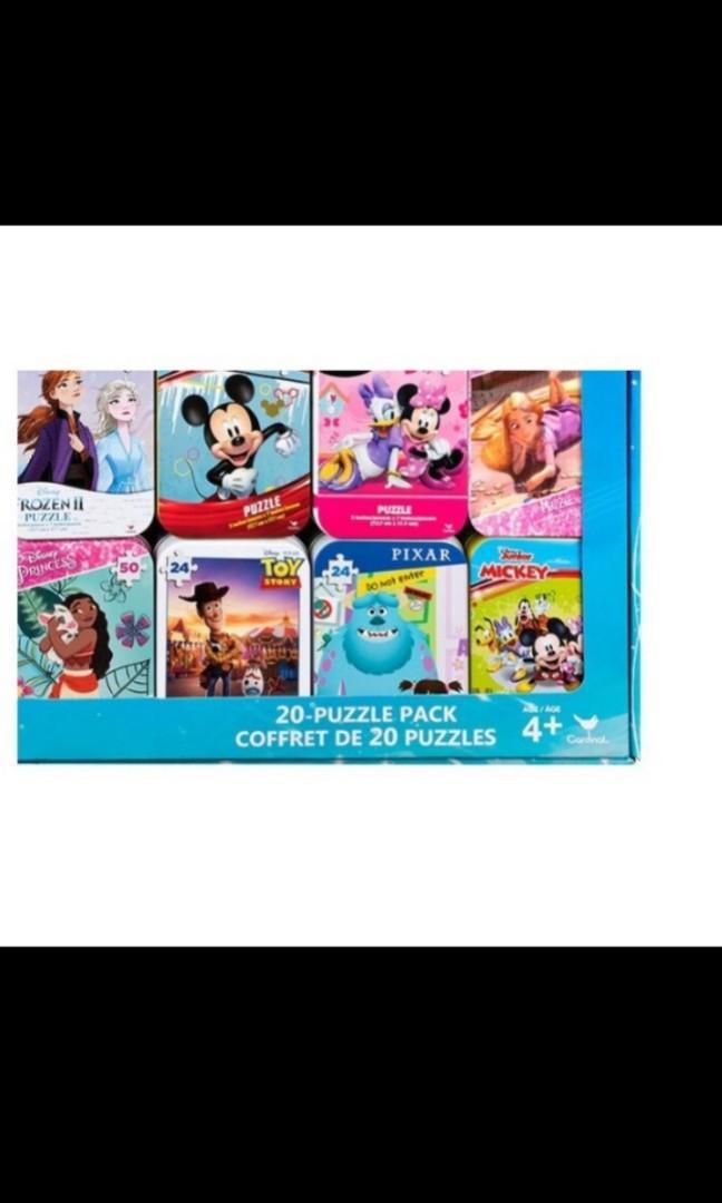 #1137955 Disney 迪士尼 Costco 2021新款 PUZZLES 知名卡通拼圖20入 數量有限 小Q代