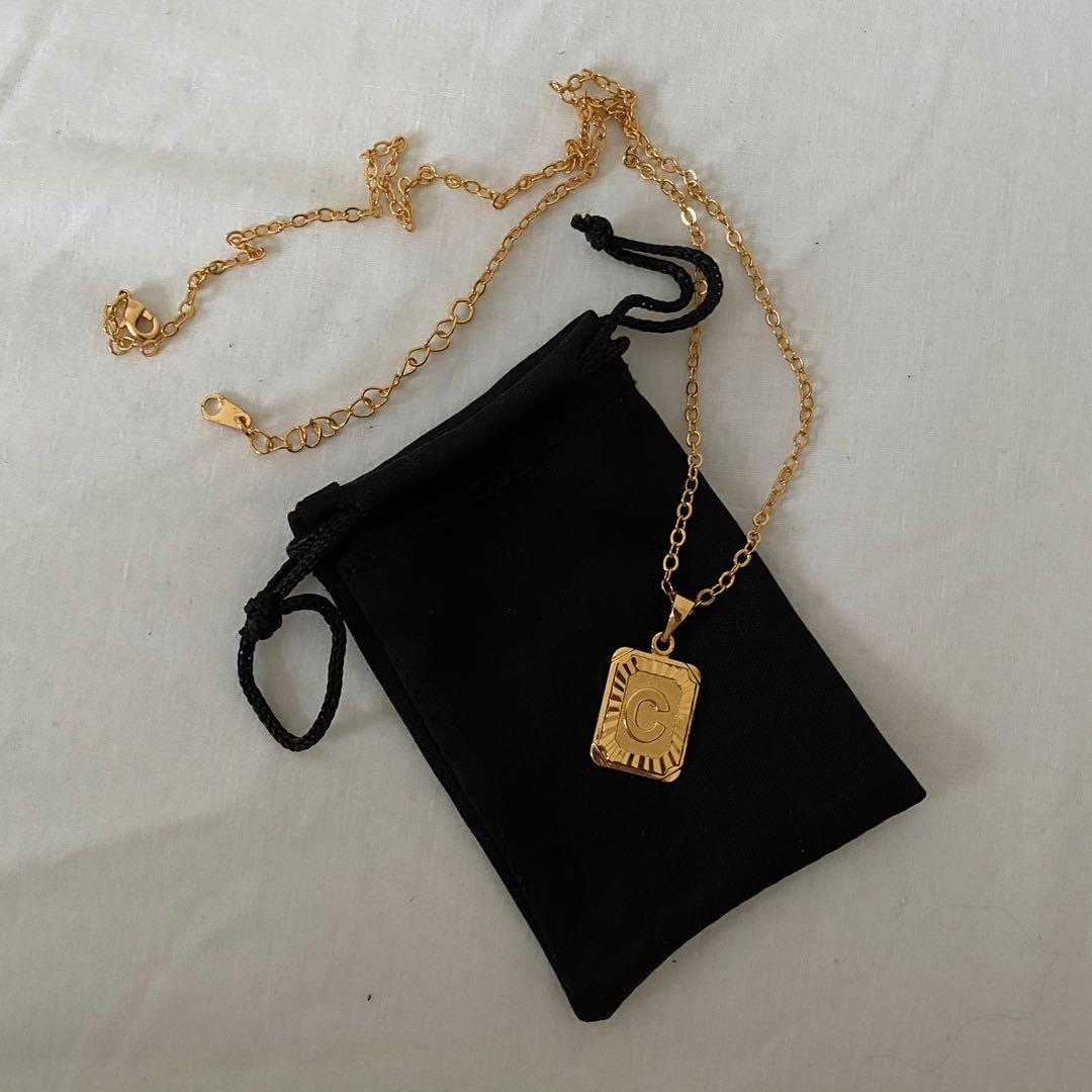 18k Gold Plated Initial Necklace