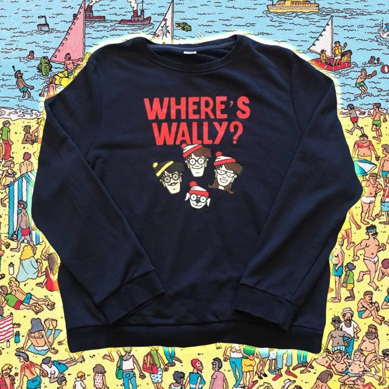 【SODA 古著】2000s Vintage 'WHERE'S WALLY?' Sweatshirt Sweater 威力古著大學T