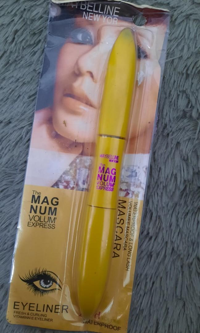 2in1 Maybelline Mascara and Eyeliner The Magnum Volum Express