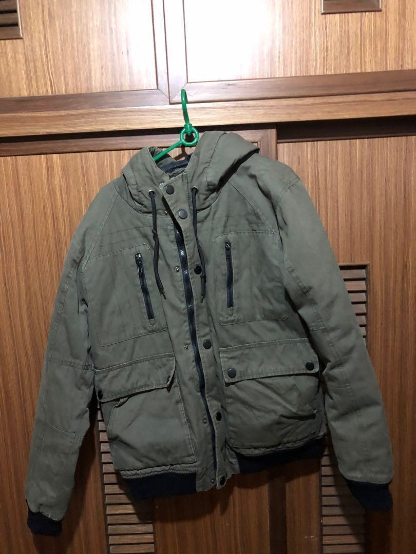 軍綠工裝外套