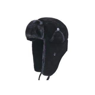 歐美全黑厚款飛行帽