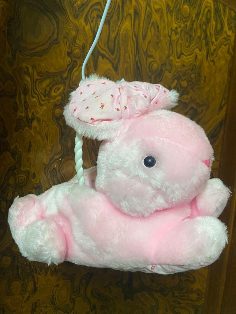 粉紅兔吊籃 可收納小物