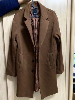 全新 古著 咖色西裝外套(厚的)