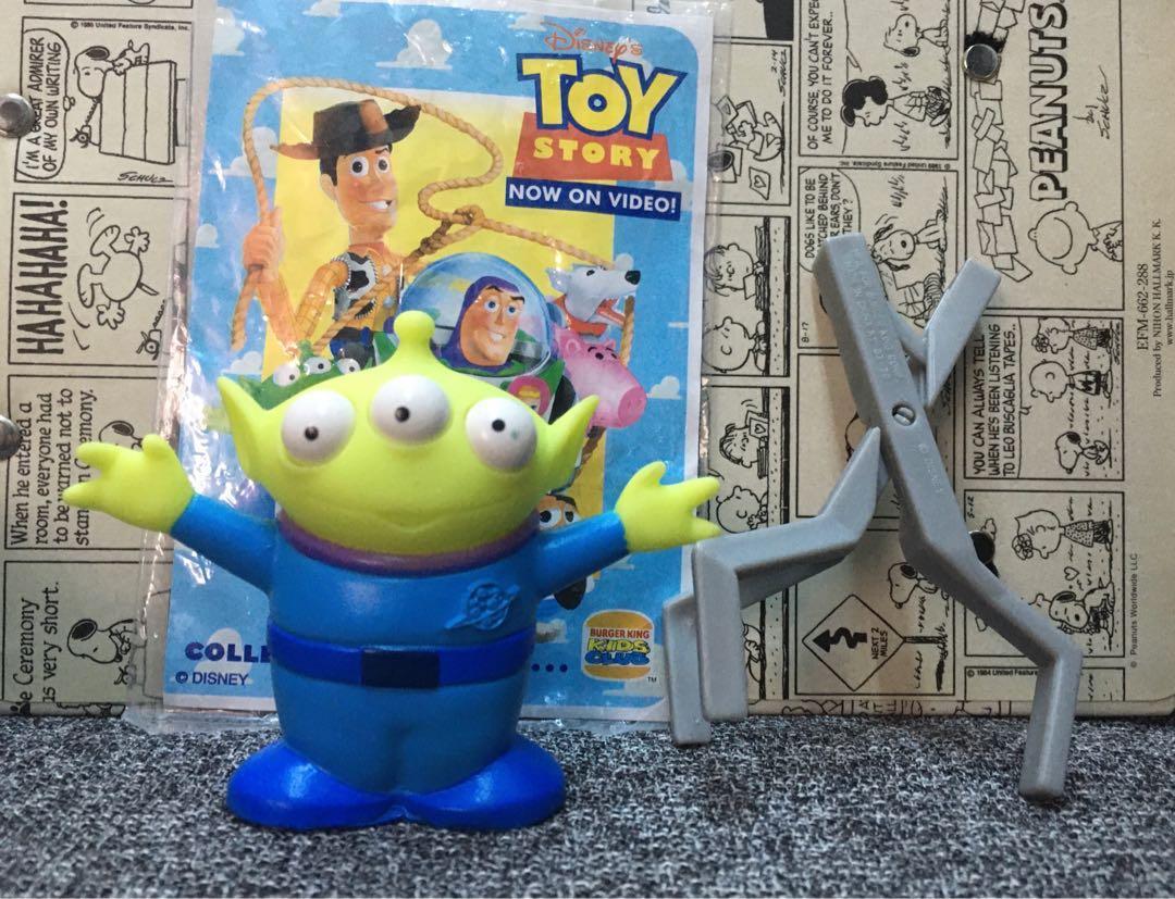 玩具總動員 漢堡王 速食玩具 絕版 三眼怪 三眼 玩具 公仔