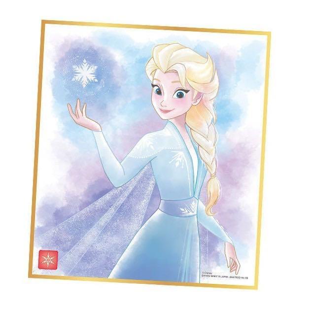 【現貨】日版 萬代 Bandai 迪士尼公主 白雪公主 小精靈 小叮噹 艾莎 安娜 小飛俠 冰雪奇緣 色紙 色卡
