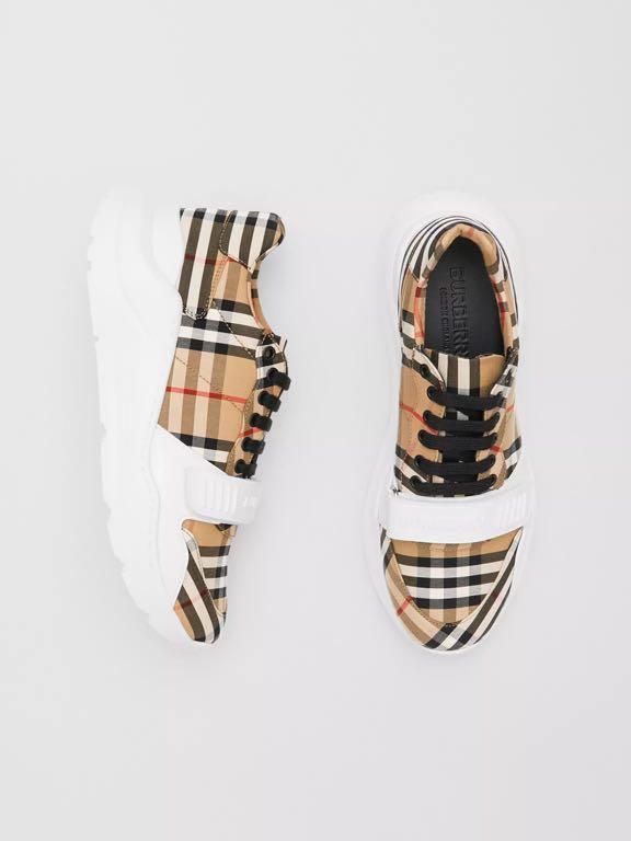 「二手」僅試穿  Burberry Vintage 格纹棉質運動鞋