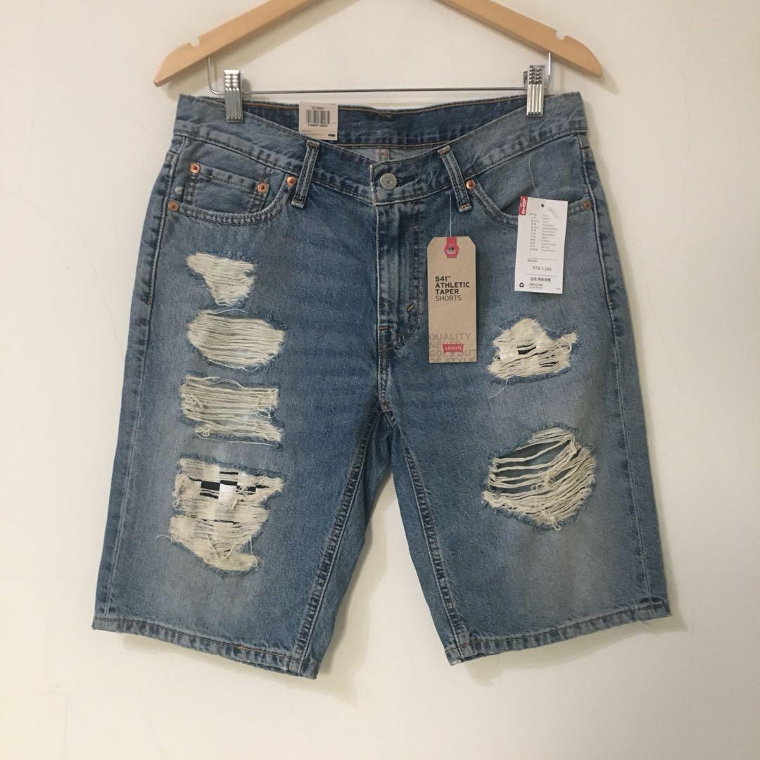 全新正品 Levi's Levis 541 ATHLETIC TAPER 牛仔短褲 破壞加工