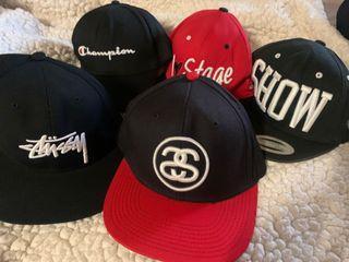 帽子 (老帽、鴨舌帽、棒球帽、stage、stussy、champion