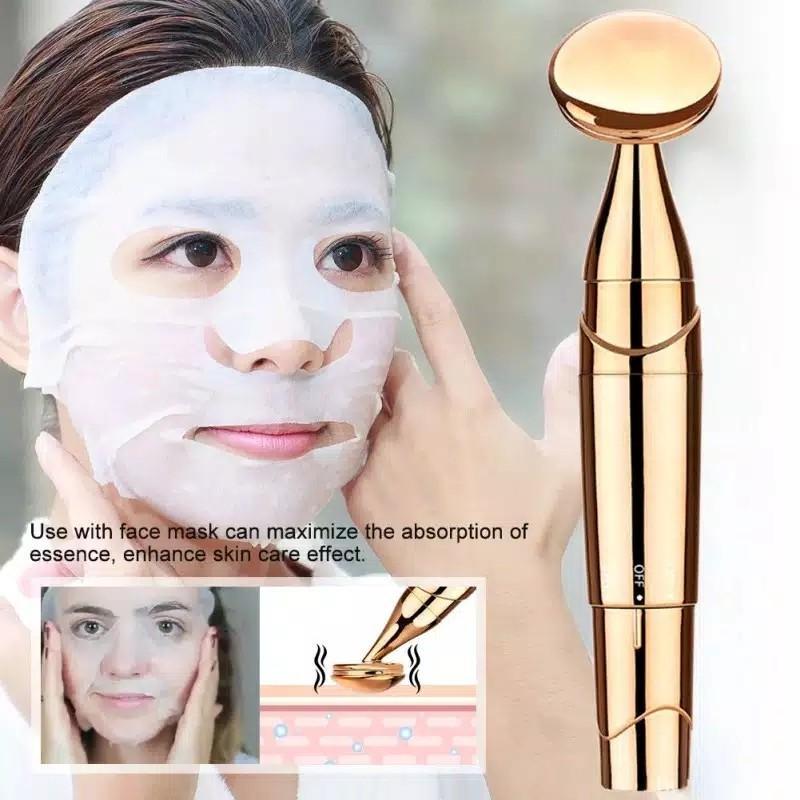 Alat Facial Elektrik Getar Perawatan Kulit Cleaner Massager Ultrasonic Slim