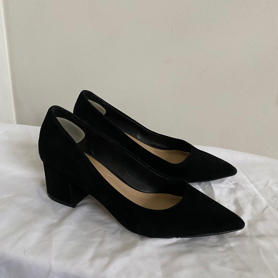 Aldo Suede Pointed Low Chunky Heels